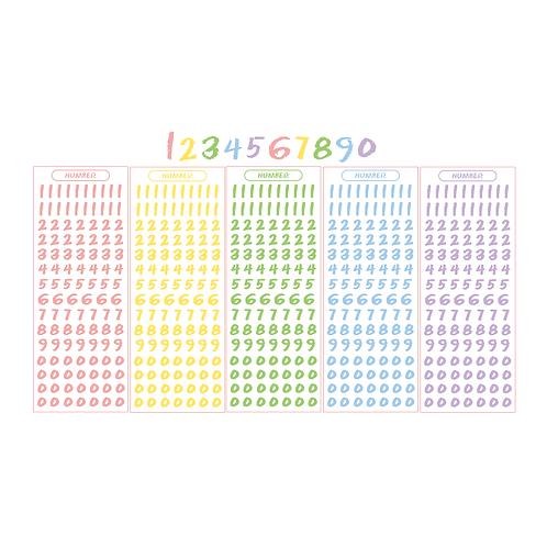 crayon number pastel seal pack (25g)