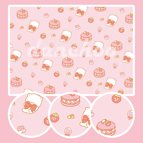 pink strawberry paper (250~500g)
