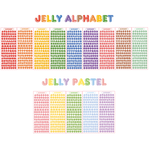 jelly alphabet seal pack (25g)