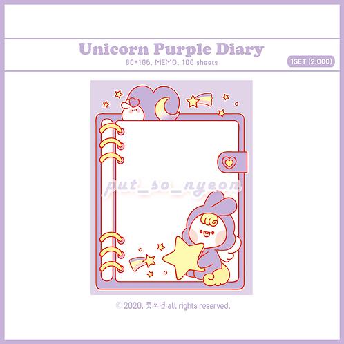 diary unicorn purple (70g)