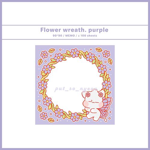 flower wreath purple (70g)