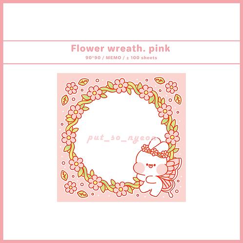 flower wreath pink (70g)