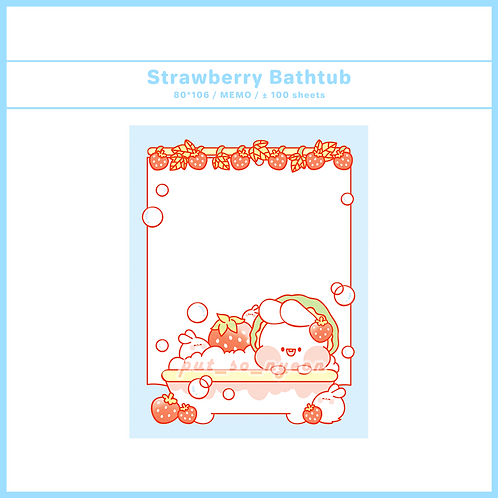 strawberry bathtub (70g)