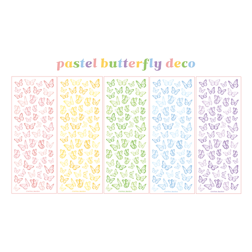 butterfly deco pastel seal pack (25g)