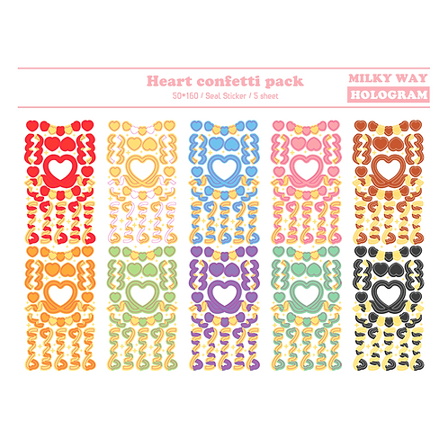 pack : heart confetti (25g)