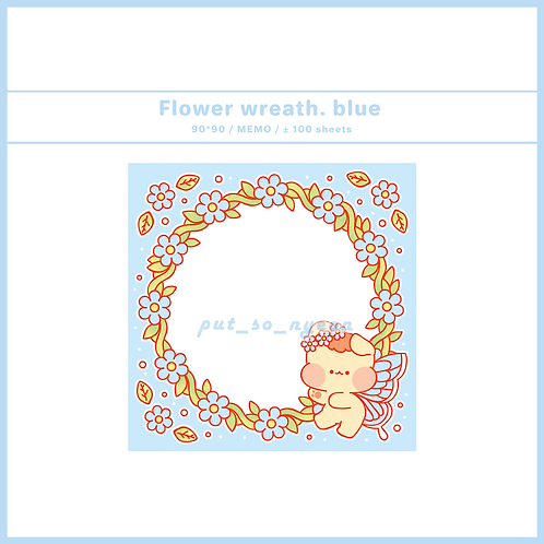 flower wreath blue (70g)