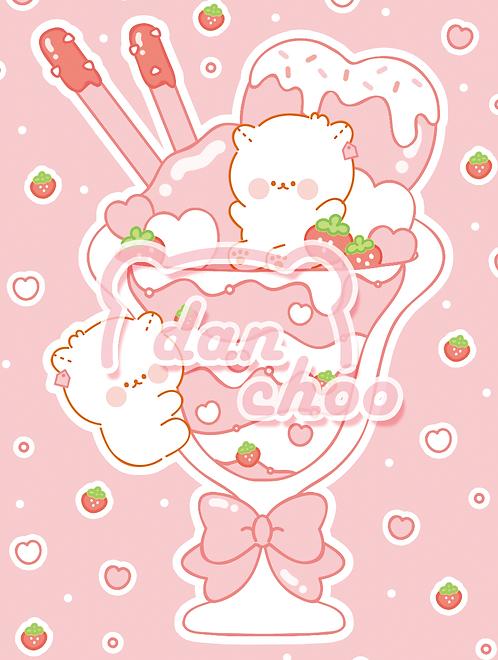 heart strawberry parfait (70g)