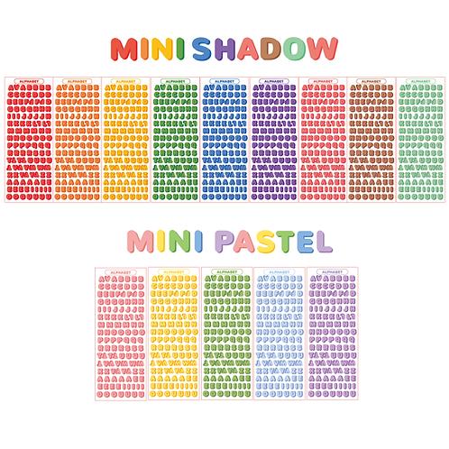 [capital] mini shadow alphabet seal pack (45g)