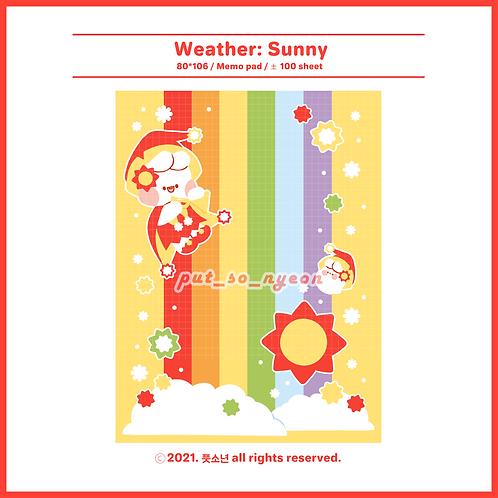 weather : sunny (70g)