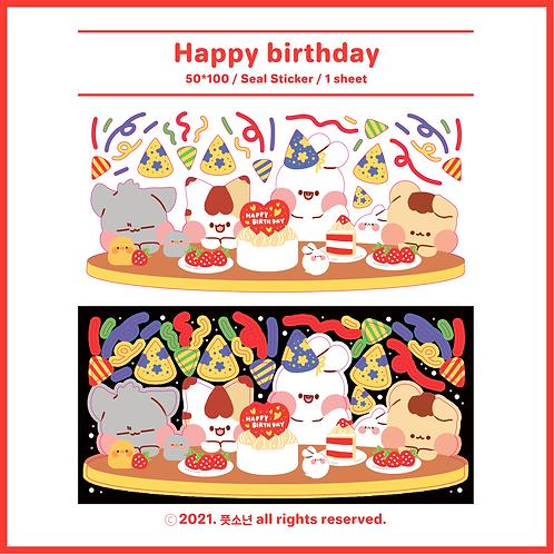 birthday : 2sheets (10g)