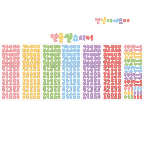 handwritten korean alphabet hangeul (35g)