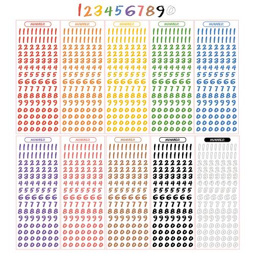 crayon number seal pack (50g)