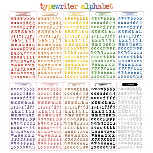 typewriter alphabet seal pack (50g)