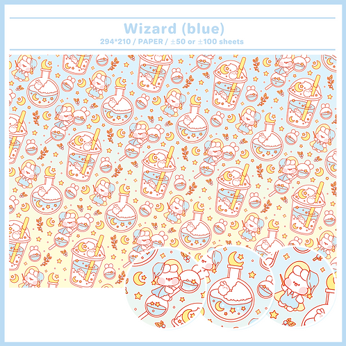 paper : wizard blue