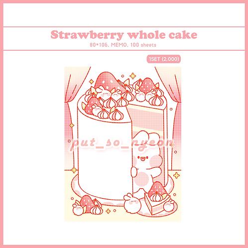 cake whole strawberry (70g)