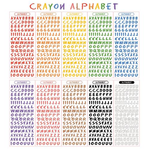 crayon alphabet seal pack (50g)