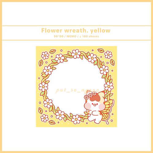flower wreath yellow (70g)