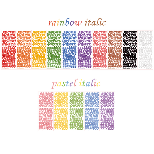 italic alphabet seal pack (50g)