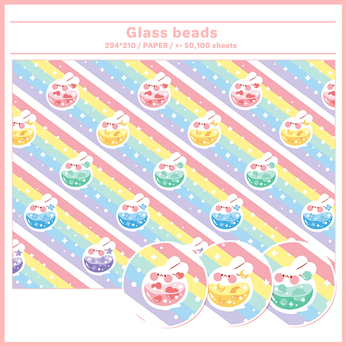 paper : glass beads (250g,500g)