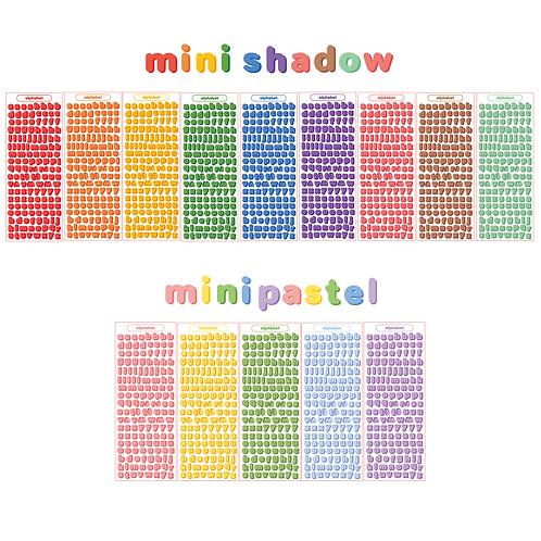 [small] mini shadow alphabet seal pack (45g)