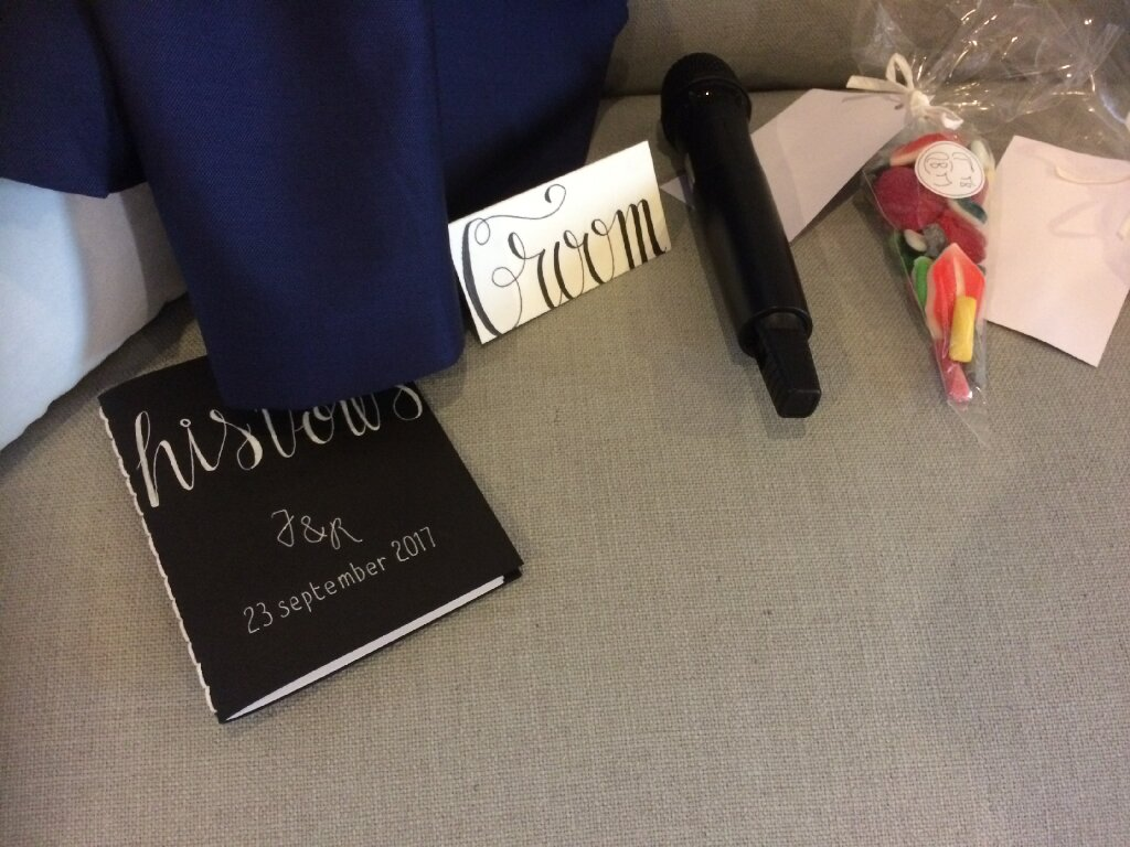 Gelofteboekje bruidegom