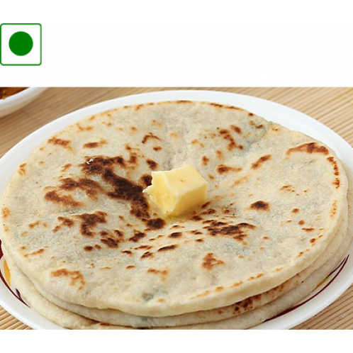 Classic Naan Paratha with Curd & Butter