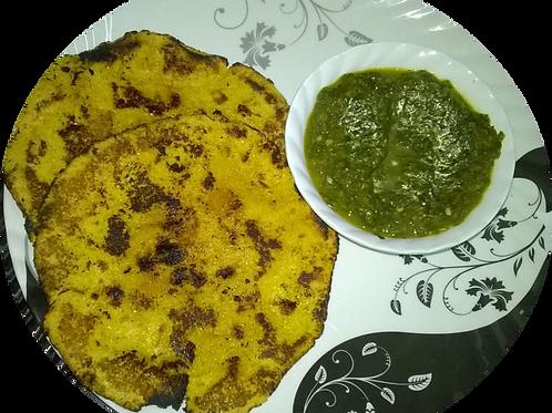 Sarso Ka Saag & Makki Ki Roti with Curd & Butter