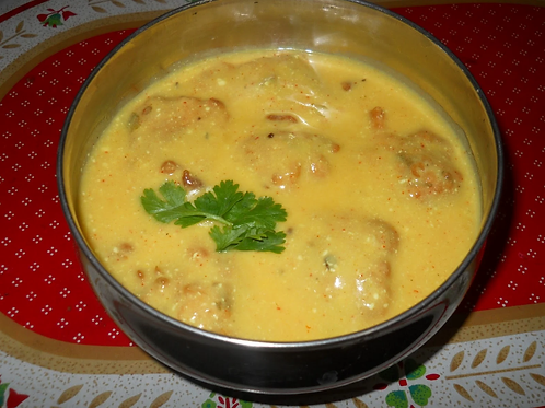 Kadhi with Roti & Rice