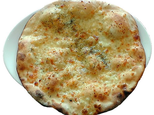 Garlic Pizza Paratha with Curd & Butter