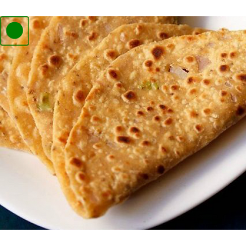 Dal Paratha & Butter Roll with Curd