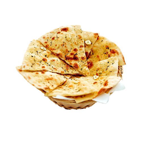Focaccia Bread Paratha with Curd & Butter