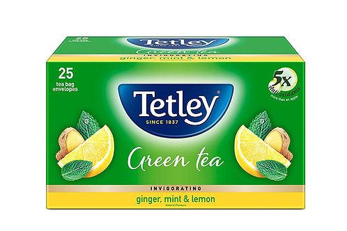 Tetley Green Tea Bags - Ginger, Mint & Lemon