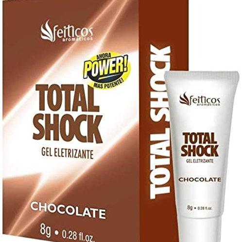 TOTAL SHOCK GEL ELETRIZANTE CHOCOLATE 8G FEITIÇOS AROMATICOS