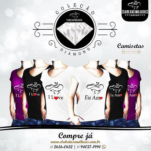 Camiseta Exclusiva Glitter -Clube das Mulheres