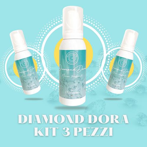 Diamond Dora - Mousse tonificante KIT 3 pz