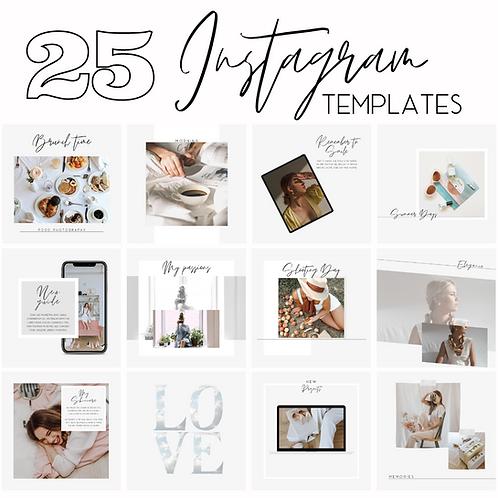 25 template Instagram