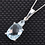 Thumbnail: Sky Blue Topaz (Cush 2.80 Ct) Necklace in Sterling Silver with Stainless Steel 3