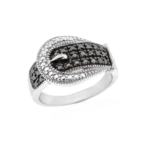 Boi Ploi Black Spinel (Rnd), White Topaz in Rhodium Plated Sterling Silver