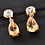 Thumbnail: Citrine (Pear), Natural Cambodian Zircon Earrings (with Push Back) in 14K Gold O