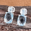 Thumbnail: Sky Blue Topaz (Cush) Earrings in Sterling Silver 5.750 Ct.