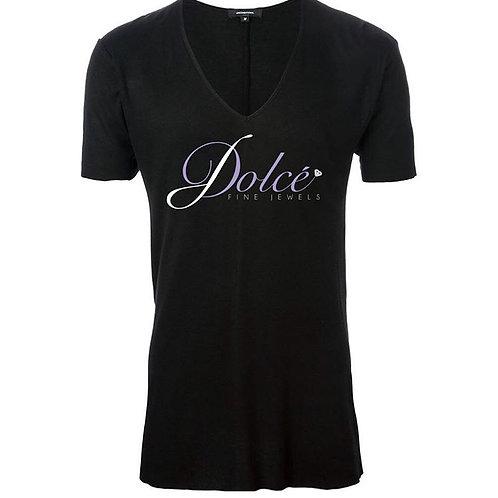 Ladies V Neck Logo T-Shirt