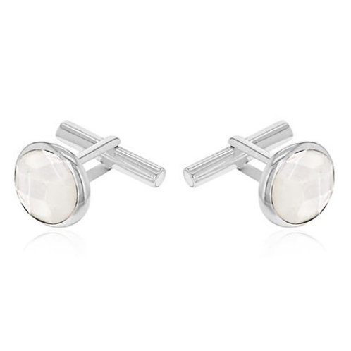 Mother Of Pearl Sterling Silver Cufflinks (7.00 gm)