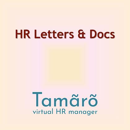 HR Letters & Docs