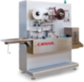 Cut and flow pack machine for bubble gum, soft candy and toffee