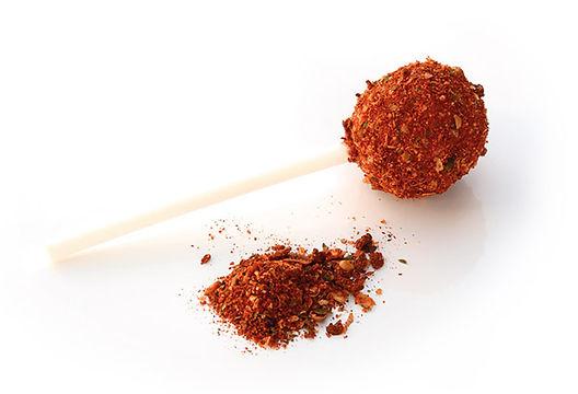Sugar sande lollipop coating chilli