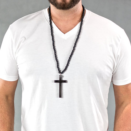 ALL BLACK CROSS NECKLACE