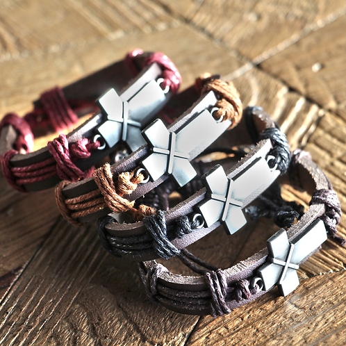CROSS LEATHER BRACELET