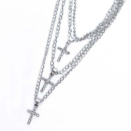 THREE-IN-ONE CROSS NECKLACE