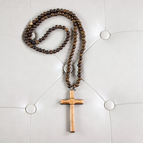NATURAL CROSS NECKLACE