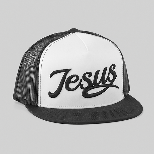 Black & white Jesus hat